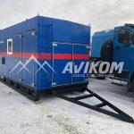 Стационарная ППУ производительностью 1600/100 с дизельным генератором на санях