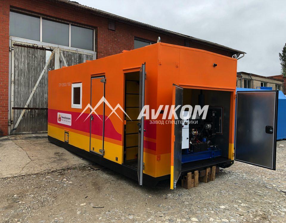 Стационарная ППУ (СПУ) с дизельным генератором производительностью 2500/160