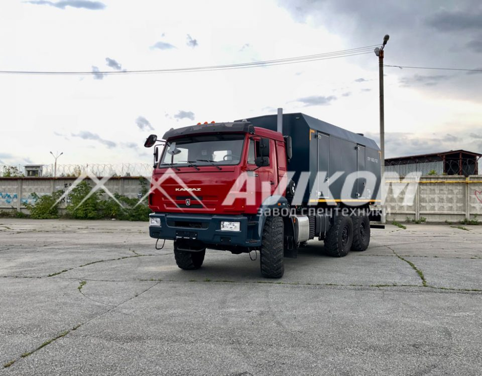 ППУ 1600/100 на базе КамАЗ 43118 (красный)