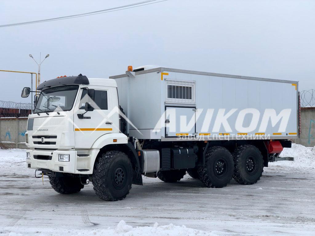 Фургон для перевозки взрывчатых веществ на базе КамАЗ 43118